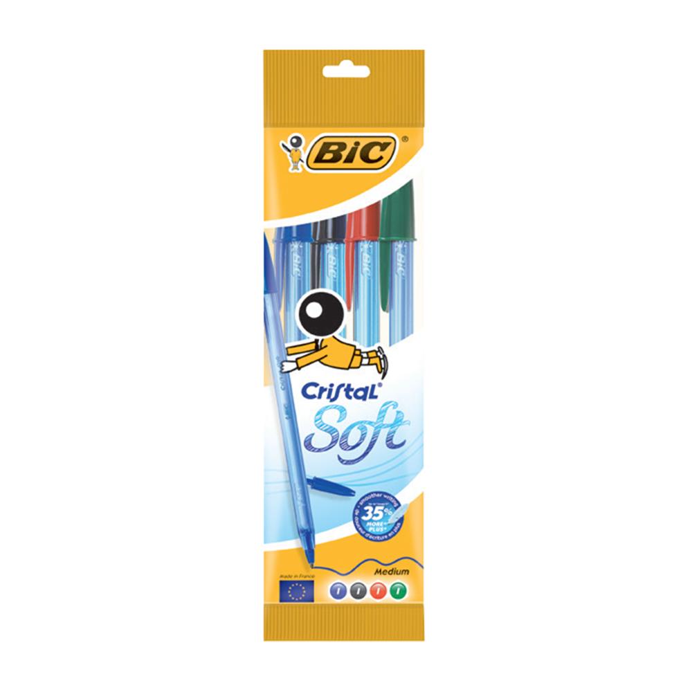 خودکار کریستال سافت 1.2 میلیمتر بیک بسته 4 عددی 4 رنگ