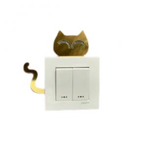 استیکر کلید و پریز طرح گربه