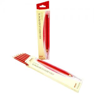 مداد قرمز آسیا بسته 12 عددی