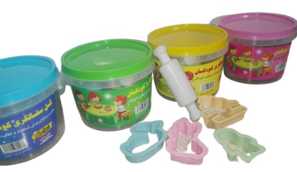 گل سفالگری سطلی کودکان همراه با ابزار بازی