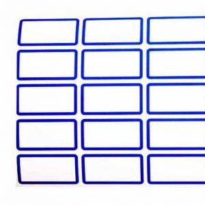 برچسب دور آبی سایز 1.6 × 3.7 سانتیمتر بسته 50 برگی