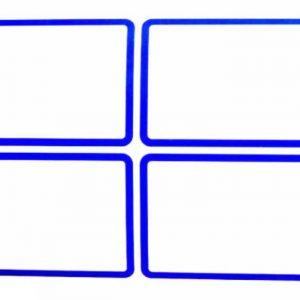برچسب دور آبی سایز 3.6 × 5.1 سانتیمتر بسته 50 برگی