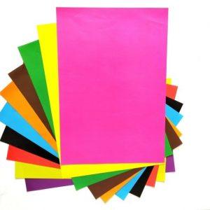 کاغذ رنگی 10 رنگ تک رو
