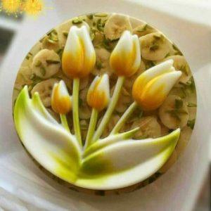 قالب ژله طرح گل لاله