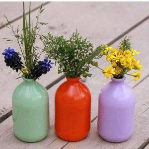 گلدان تزئینی رنگی