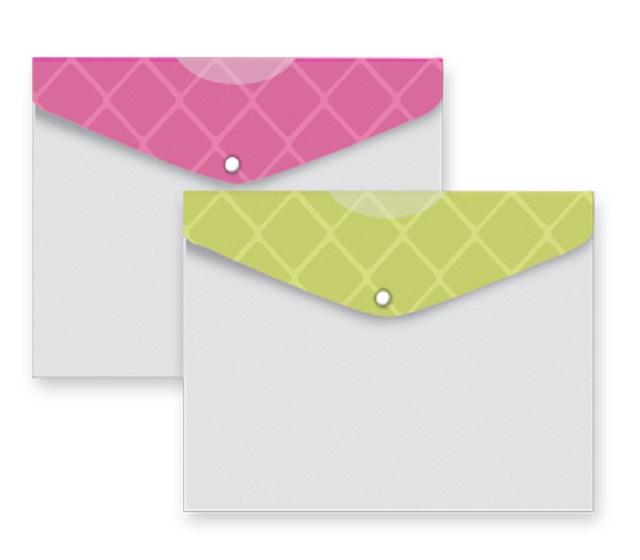 پاکت دکمه دار دو رنگ مدل دیاموند