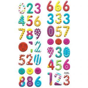 استیکر کودک طرح اعداد انگلیسی