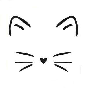 شابلون استنسیل طرح گربه