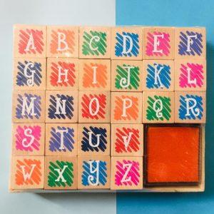 مهر چوبی حروف بزرگ انگلیسی 26 تایی