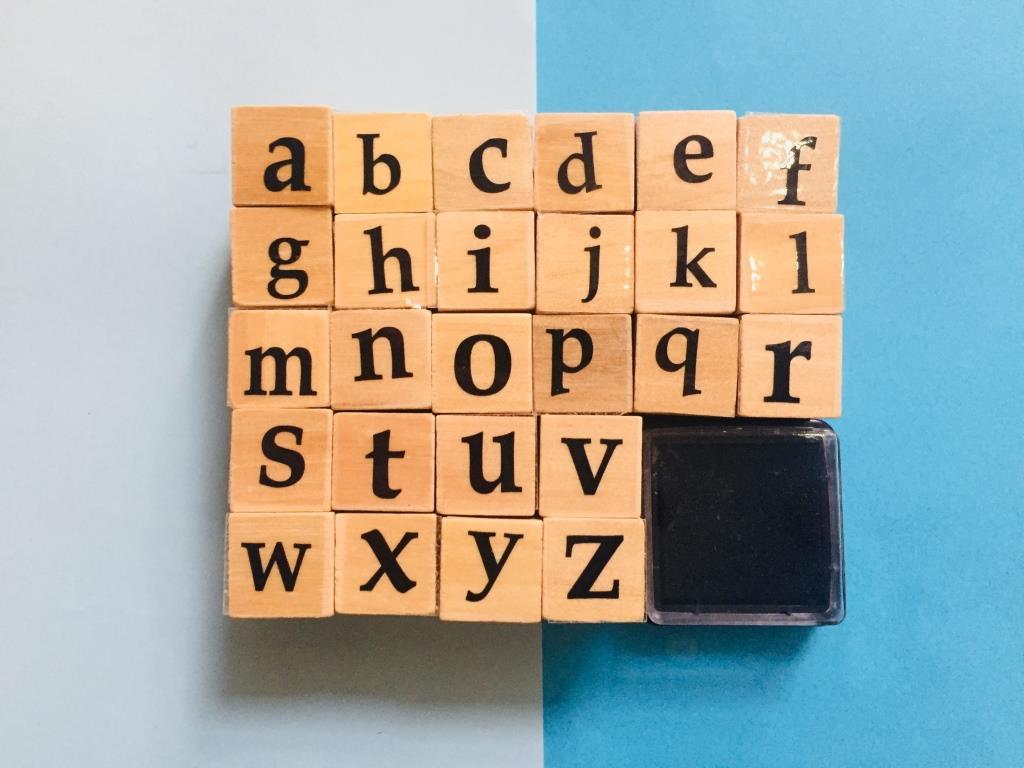 مهر چوبی حروف کوچک انگلیسی 26 تایی