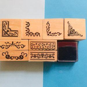مهر چوبی طرح حاشیه بسته 8 عددی