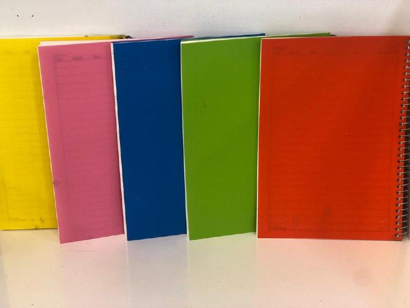 دفتر۵۰ برگ سیمی جلد طلقی