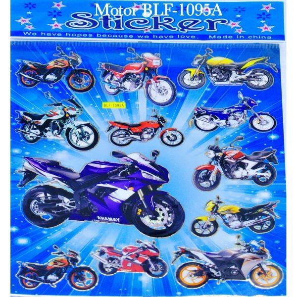 استیکر کودک طرح موتورسیکلت