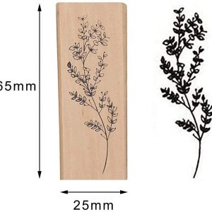 مهر چوبی بزرگ طرح گل
