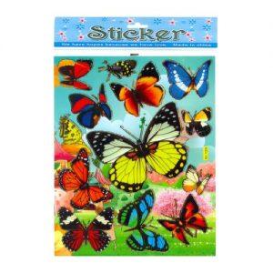 استیکر طرح پروانه